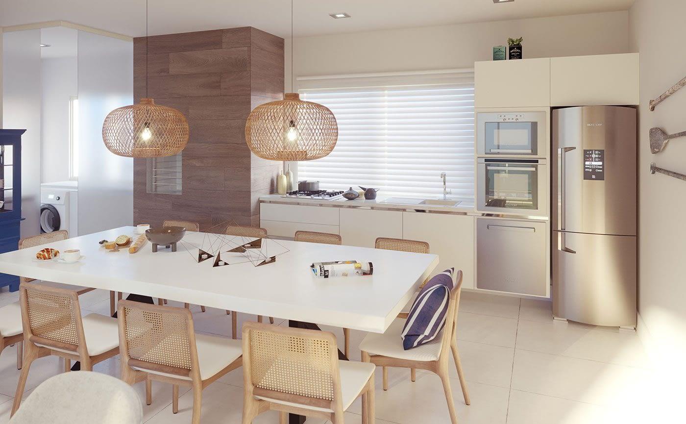 Cozinha - Residencial The Sand