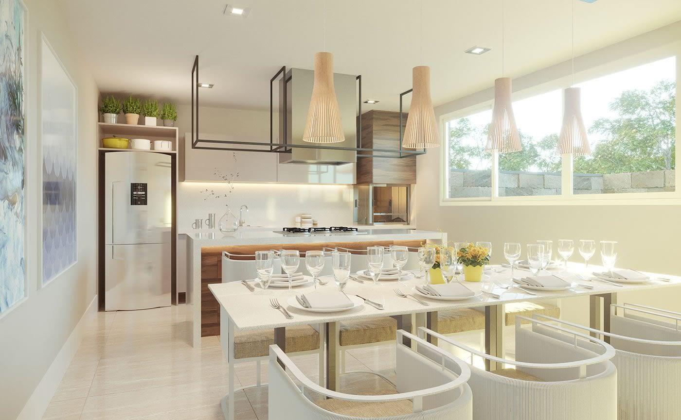 Salão Gourmet - Residencial The Sand